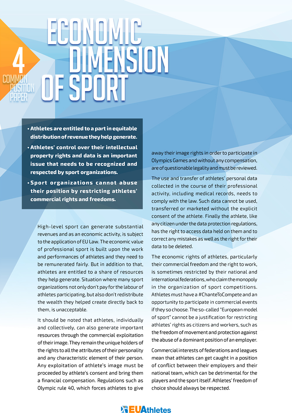 Common Position Paper   EU Athletes
