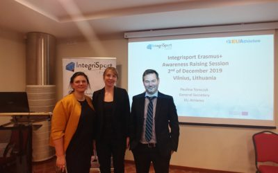 EU Athletes in Lithuania for the third awareness raising session of Integrisport Erasmus+