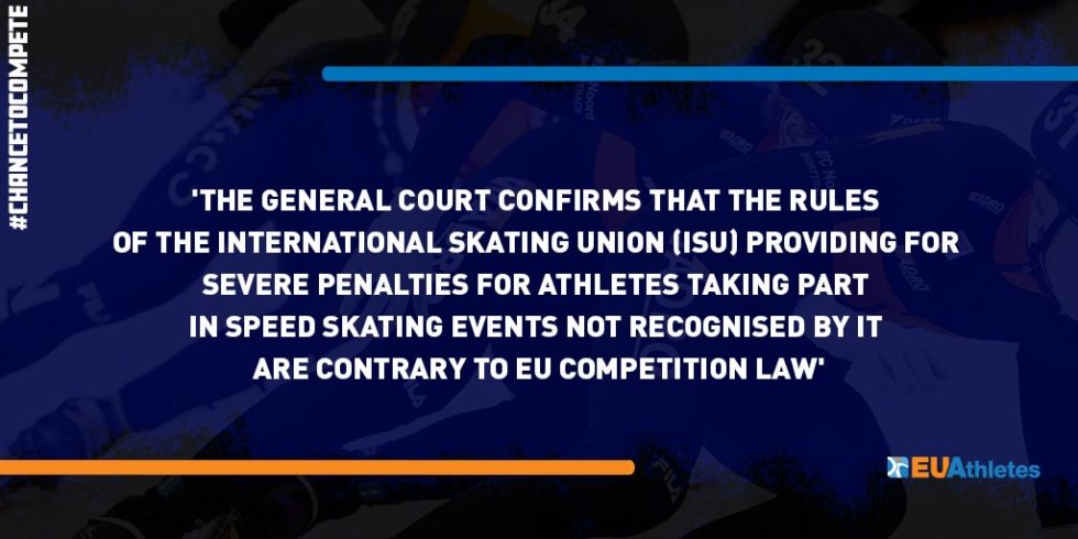 Statement on the Judgment of the General Court – International Skating Union Eligibility Rules