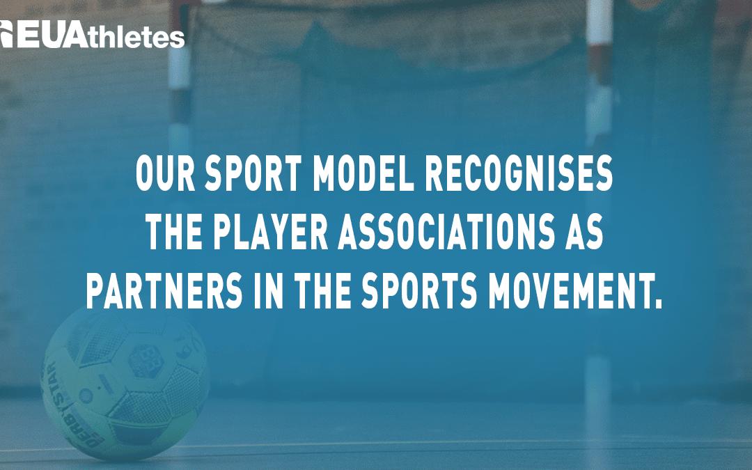 EU Athletes Response to the Lobby for a 'European sport model'